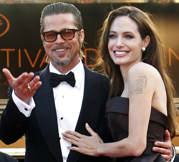 File photo of actress Angelina Jolie and Brad Pitt at 64th Cannes Film Festival