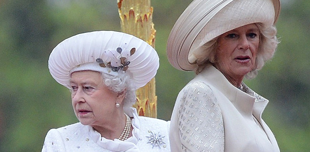 Королева Елизавета и герцогиня Камилла