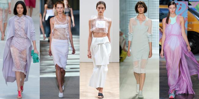 Прозрачное платье в тренде – с чем носить