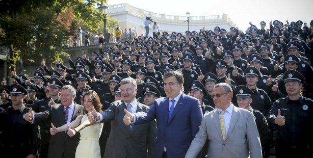 Патрульные полицейские Одессы приняли присягу вприсутствии Порошенко