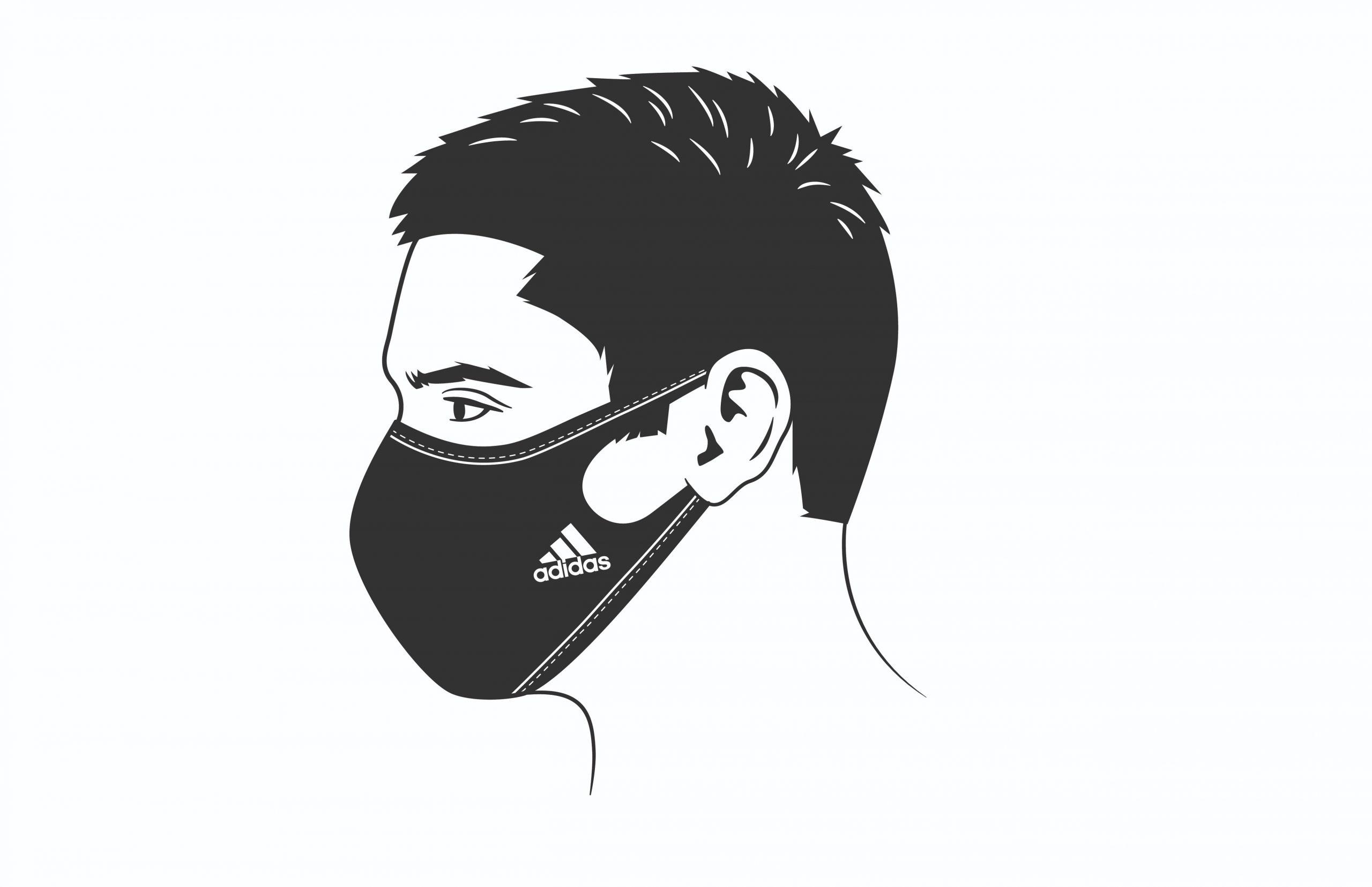 маска для лица Adidas мужская